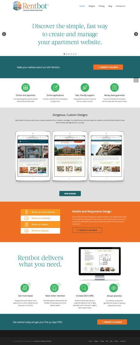 Apartment Website Solutions by Rentbot